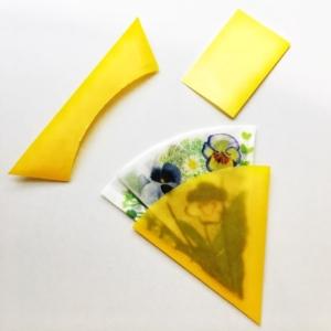 花テガミ束、福永紙工、メッセージカード、ビオラ