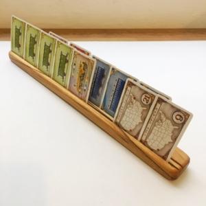 無垢、木製カードスタンド5本、ボードゲーム